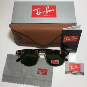 Ray-Ban Clubmaster 3016 Style Sunglasses
